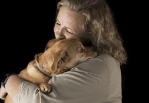 Ahimsa House Lady with Dog